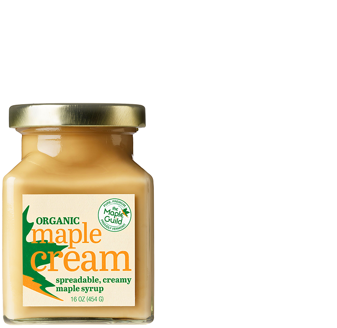 Jar of Organic Maple Cream
