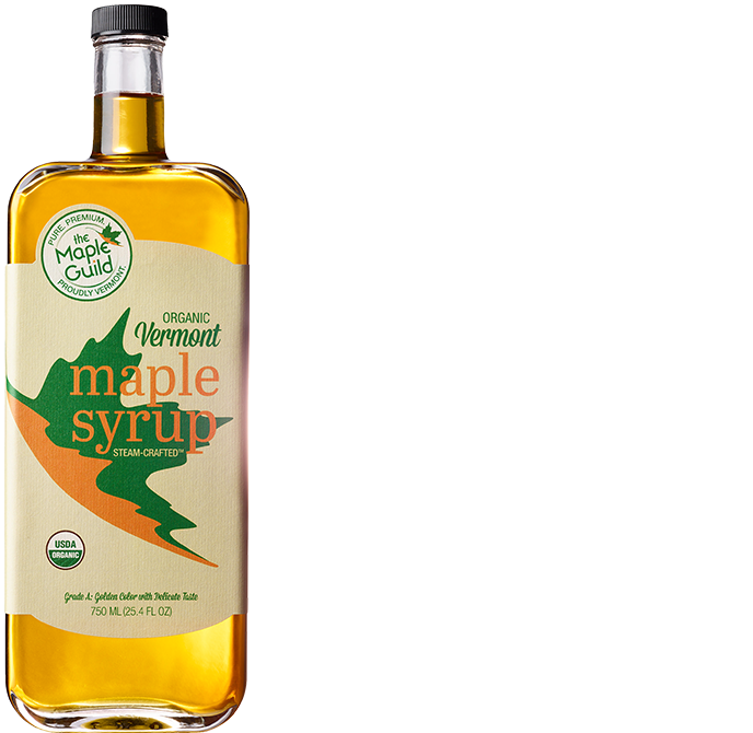 Bottle of Organic Grade A Golden Syrup